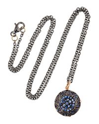 Ileana Makri - Pink Gem 18karat Rose Gold Sapphire Necklace - Lyst