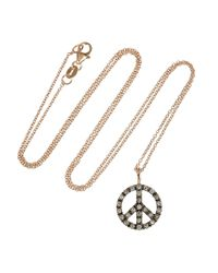 Ileana Makri | Pink Peace 18karat Rose Gold Diamond Necklace | Lyst