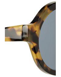 Illesteva | Brown Frieda Roundframe Acetate Sunglasses | Lyst