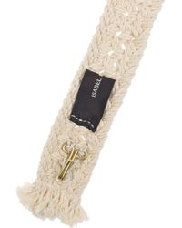 Isabel Marant | Natural Kitti Woven Cotton Belt | Lyst