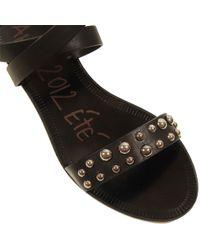 Lanvin | Studded Heel Sandal in Black | Lyst