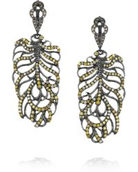 Loree Rodkin - Feather 18karat Rhodium White Gold and Diamond Earrings - Lyst