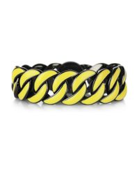 Marc By Marc Jacobs - Yellow Katie Enameled Brass Bracelet - Lyst