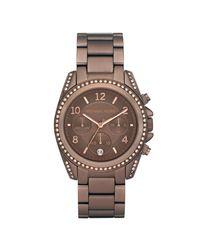 Michael Kors | Brown Chronograph Bronze Tone Stainless Steel Bracelet 39mm | Lyst