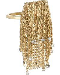 Solange Azagury-Partridge | Metallic Fringe 18karat Gold Diamond Ring | Lyst