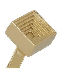 Solange Azagury-Partridge - Metallic Square Spinner 18karat Gold Ring - Lyst