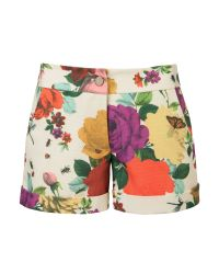 Ted Baker | Multicolor Gleeso Printed Canvas Shorts Cream | Lyst