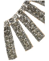 Valentino - Metallic Goldplated Swarovski Crystal Bib Necklace - Lyst