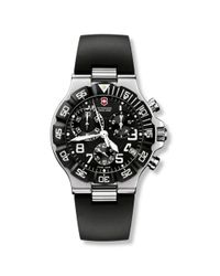 Victorinox   Black 241493 Men's Infantry Chronograph Leather Strap Watch for Men   Lyst