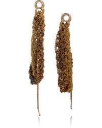 Arielle De Pinto | Metallic 14karat Goldvermeil Woven Chain Earrings | Lyst