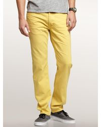 Gap   Yellow Slim Fit Jeans for Men   Lyst