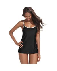 MICHAEL Michael Kors | Black One Piece Lingerie Strap Swimdress | Lyst
