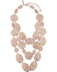 Oscar de la Renta | Metallic Hammered Disc Necklace | Lyst