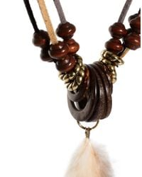 ASOS - Brown Super Chunky Feather Necklace for Men - Lyst