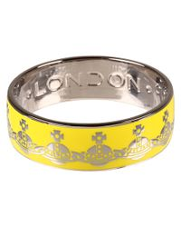 Vivienne Westwood - Yellow Orb Bangle - Lyst