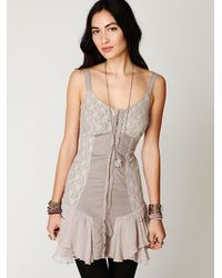 Free People | Natural Lacey Corset Dress | Lyst