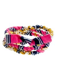 J.Crew | Pink Indego Africa For Jcrew Cloth Wrap Bracelet | Lyst