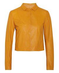 Jil Sander - Yellow Leather Jacket - Lyst