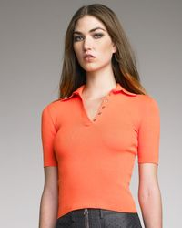Alexander Wang | Orange Techknit Polo | Lyst