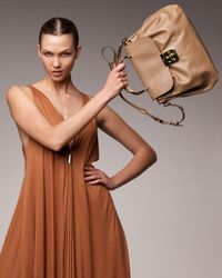 Chloé | Brown Elsie Satchel with Shoulder Strap | Lyst