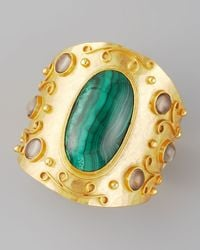 Stephanie Anne Green Malachite Cuff