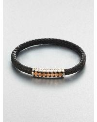 John Hardy | Metallic Mens Naga Leather Borneo-Bead Bracelet for Men | Lyst