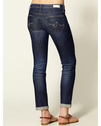 AG Jeans | Blue The Stilt Roll Up Jeans | Lyst