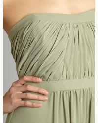 Ariella | Green Strapless Pleat Maxi Dress | Lyst