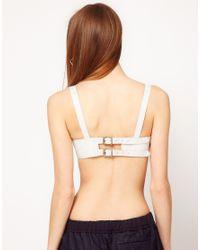 ASOS - White Revive Leather Bra - Lyst