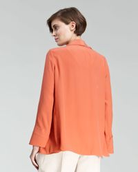 Chloé | Orange Crepe Shawl-collar Jacket | Lyst