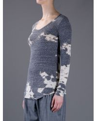 Isabel Marant | Gray Bleached Top | Lyst