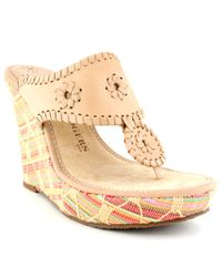 Jack Rogers | Natural Marbella Straw Wedge | Lyst