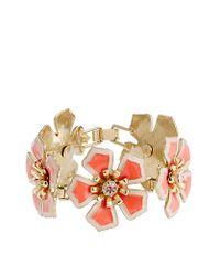 J.Crew - Red Flower Patch Bracelet - Lyst