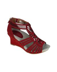 Earthies | Red Carmona Wedge Sandals | Lyst