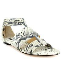 Rachel Zoe | Multicolor Gretta Embossed Flat Sandal | Lyst