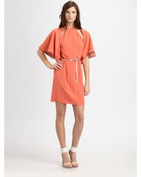 Sachin & Babi | Red Cutout Belted Dress | Lyst