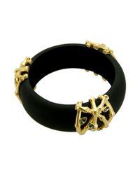T Tahari - Black Bamboo Collection Bangle Bracelet - Lyst