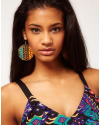 ASOS - Multicolor Asos Rocco Stencil Drop Earrings - Lyst