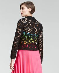 Christopher Kane | Black Lace Moto Jacket | Lyst