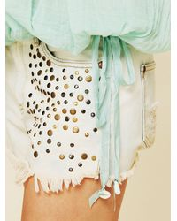 Free People - Blue Fp One City Peasant Blouse - Lyst