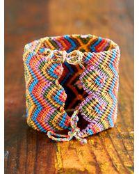 Free People - Multicolor Vintage Extra Wide Woven Friendship Bracelet - Lyst