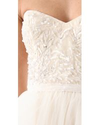 Reem Acra | White Eternity Dress | Lyst