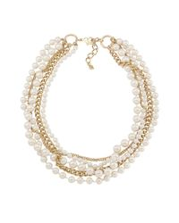 Carolee - White Glass Pearl Torsade Necklace - Lyst