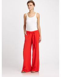 Splendid Wide Leg Pants in Red | Lyst