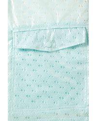 TOPSHOP - Blue Bright Crochet Plastic Mac - Lyst
