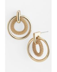 Anne Klein | Metallic Brass Ball Fringe Drop Earrings | Lyst
