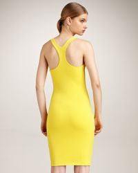 DSquared² | Yellow Racerback Dress | Lyst