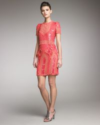 Emilio Pucci | Pink Embroidered Dress | Lyst