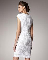 ESCADA - White Lace Cap-sleeve Dress - Lyst