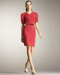 Fendi   Pink Puff-sleeve Sweater Dress   Lyst